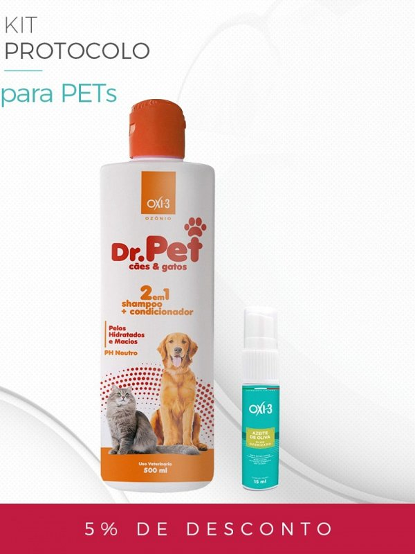 KIT PROTOCOLO PET   Tratamento de dermatites e fungos